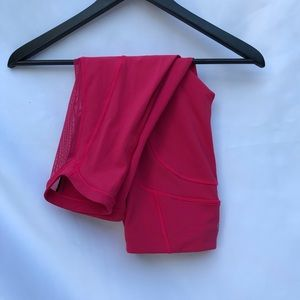 Lululemon Capri leggings with mesh